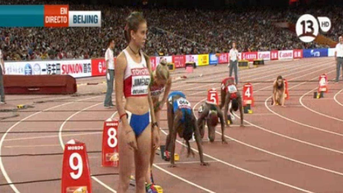 Isidora Jiménez remata en 5to. lugar y no avanza a semis en 200 metros en Beijing