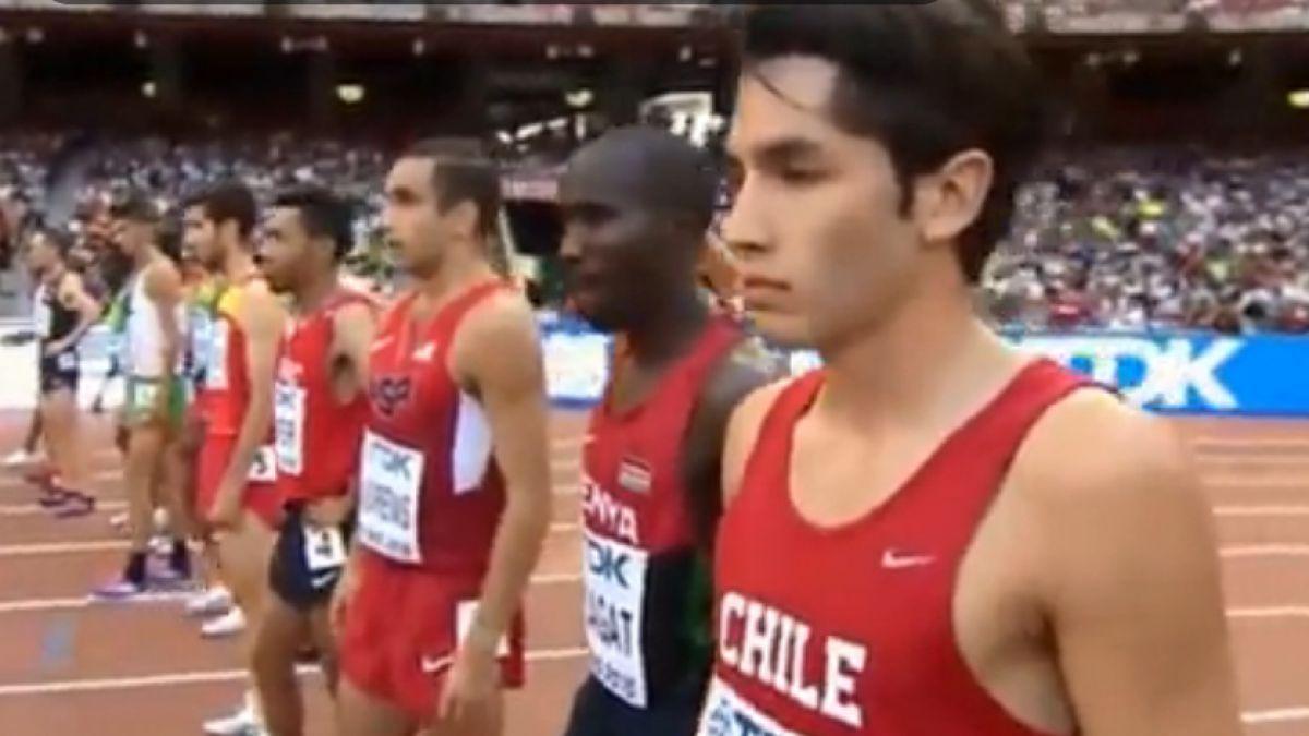 Carlos Díaz se clasifica para semifinales de los 1.500 metros en Mundial de Atletismo