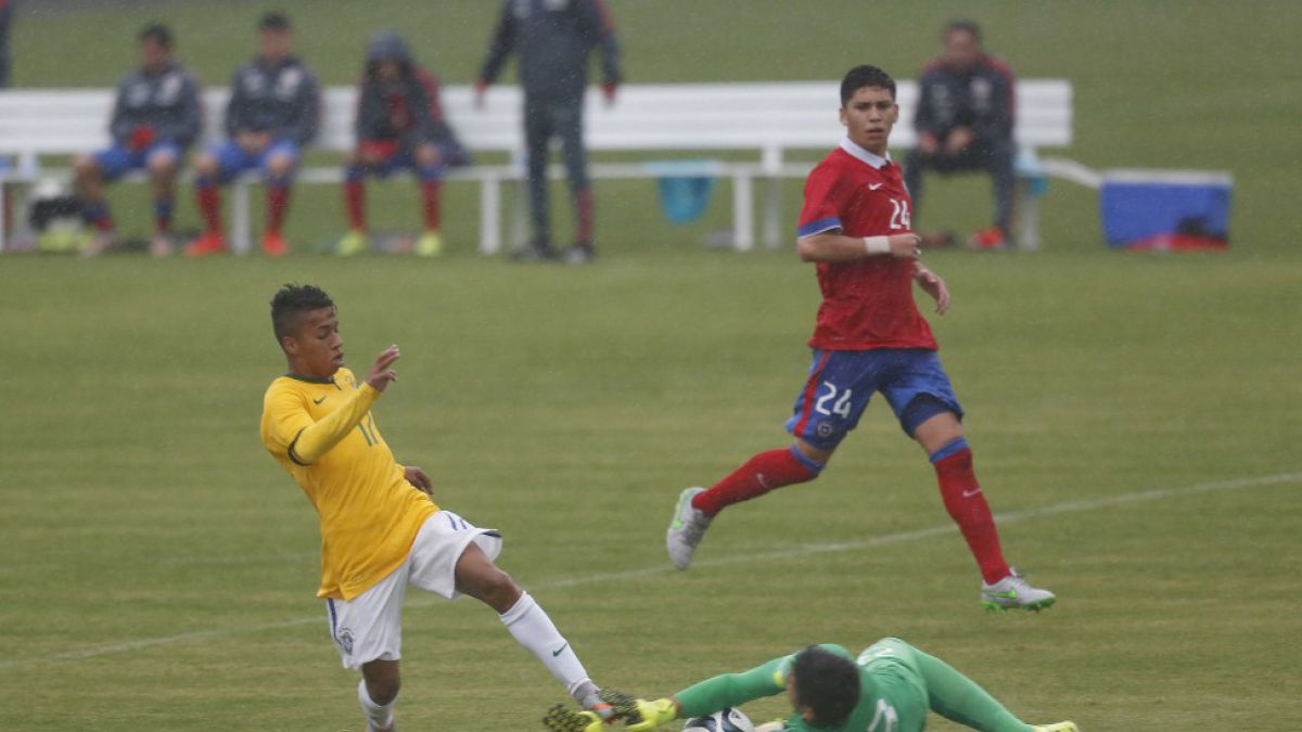 Chile Sub 17 ahora cae goleado ante Brasil en duelo amistoso