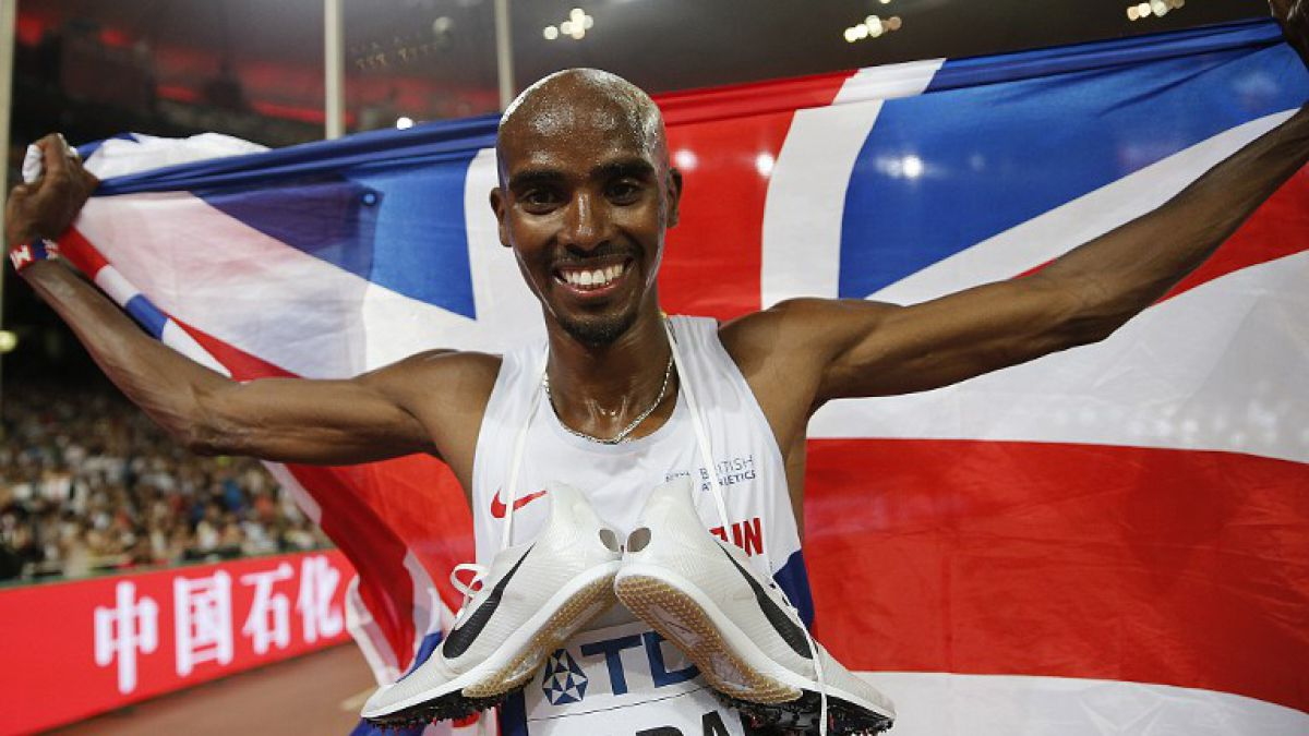 Británico Mo Farah gana oro de 5.000 metros y completa doblete en Beijing