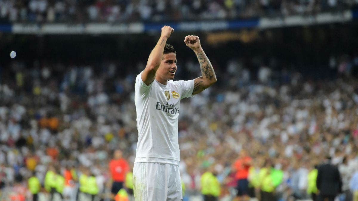 [VIDEOS] De chilena y tiro libre: Los golazos de James Rodríguez en triunfo del Real Madrid