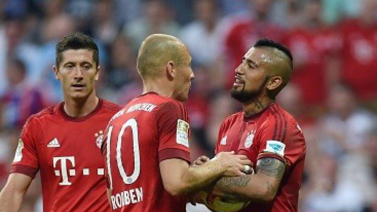 Robben explicó por qué Vidal no pateó ninguno de los penales del Bayern Munich