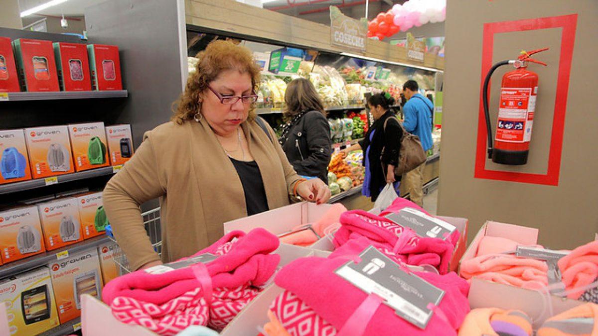 Ventas de supermercados en Chile crecen un 4,1% en julio con respecto al mismo mes de 2014