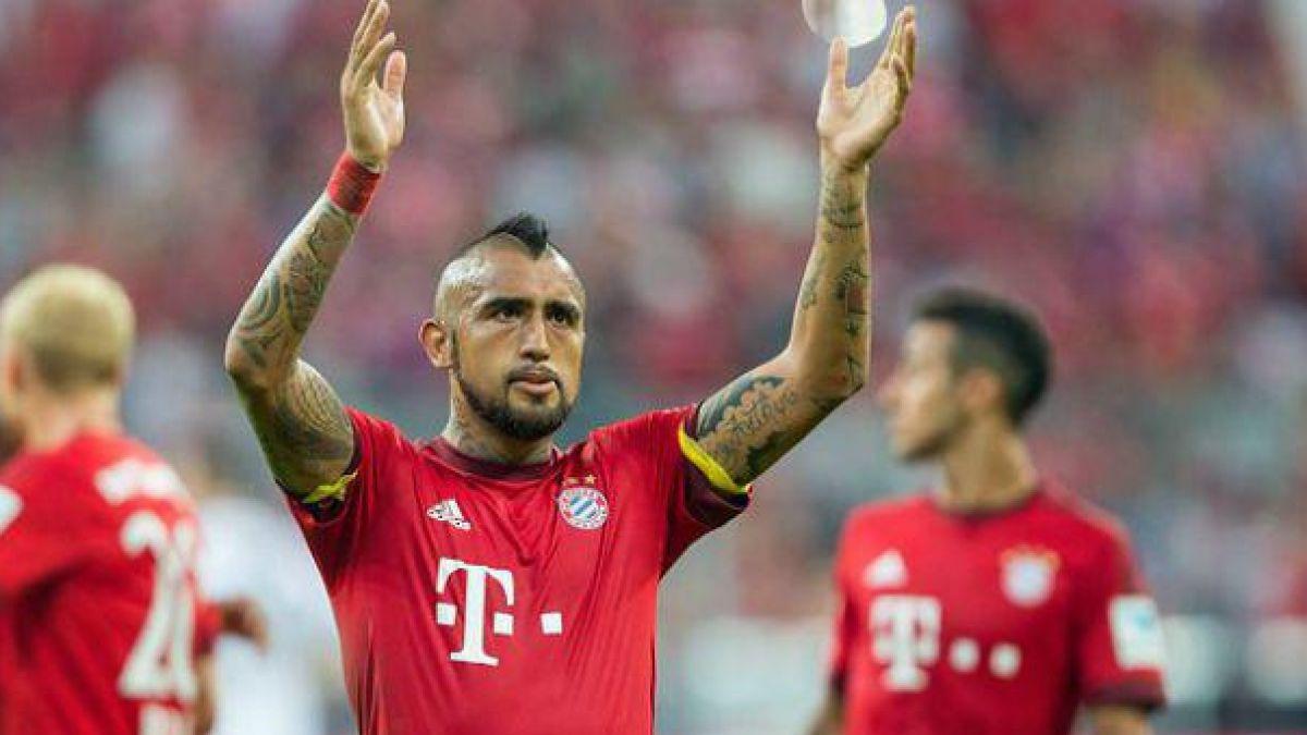 Arturo Vidal se muestra en Alemania ya reintegrado al Bayern Münich