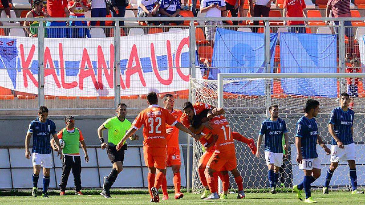La UC sufre tercera caída consecutiva al perder con Cobreloa en Copa Chile