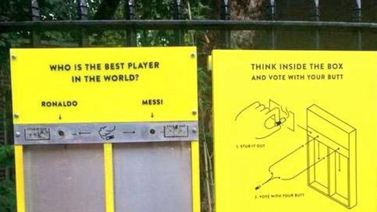 """Cristiano Ronaldo y Lionel Messi ayudan a """"limpiar"""" las calles de Londres"""