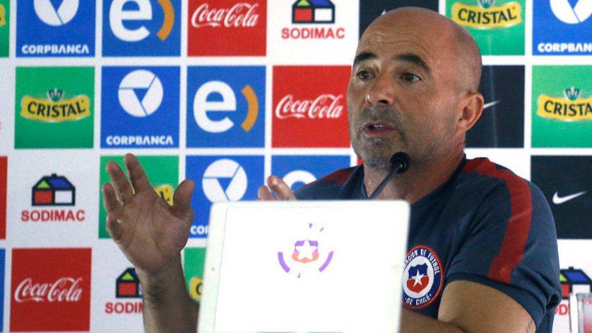"""Jorge Sampaoli: """"No percibí que Vidal llegara en malas condiciones a la concentración"""""""