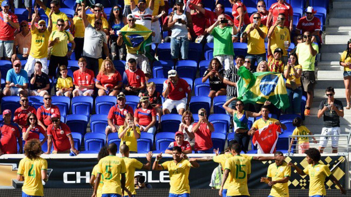 Ya piensa en Chile: Brasil vence 1-0 a Costa Rica en amistoso disputado en EE.UU.