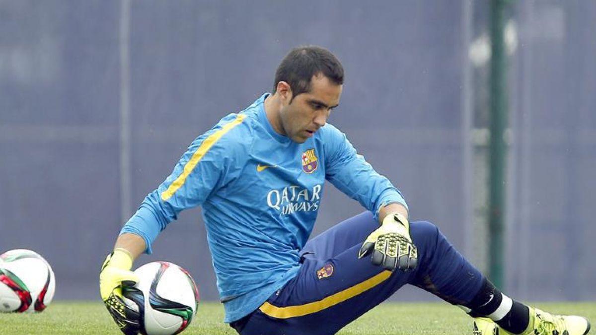 Barcelona confirma lesión de Claudio Bravo pero no entrega plazos de recuperación