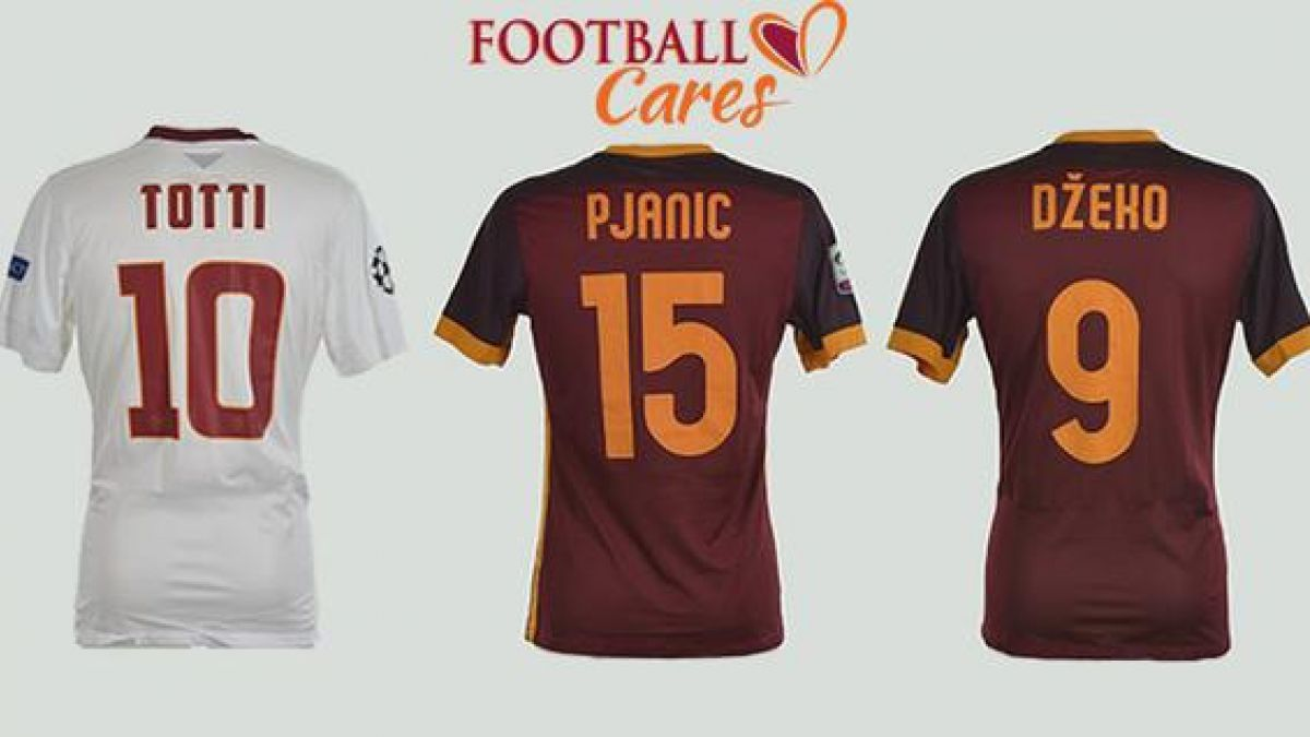 Roma subasta camisetas de Totti, Dzeko y Pjanic para ayudar a refugiados