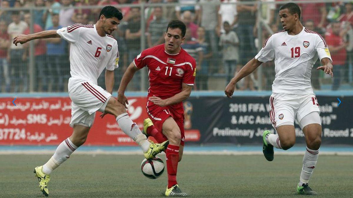 Tres chilenos juegan en empate de Palestina y EAU por clasificatorias