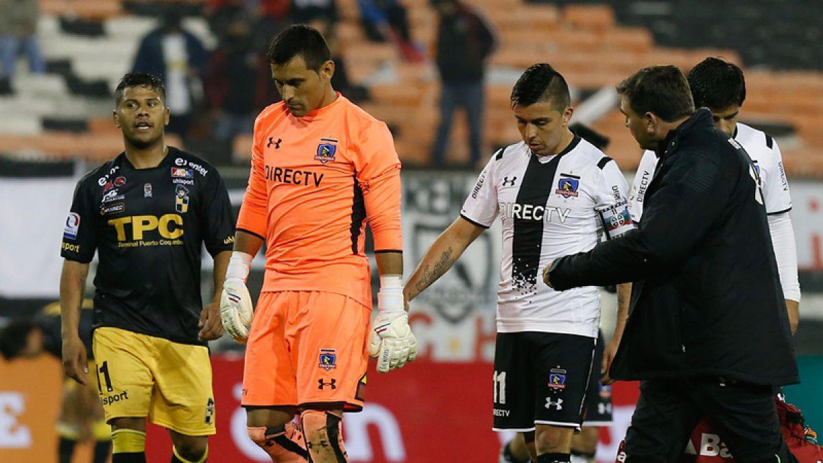 Justo Villar vuelve a lesionarse defendiendo a Colo Colo