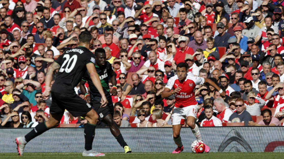 Arsenal FC vence a Stoke City y queda como sub líder de la Premier League
