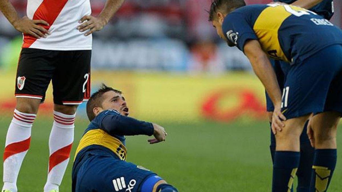 La dramática lesión de Gago en el Superclásico entre River y Boca