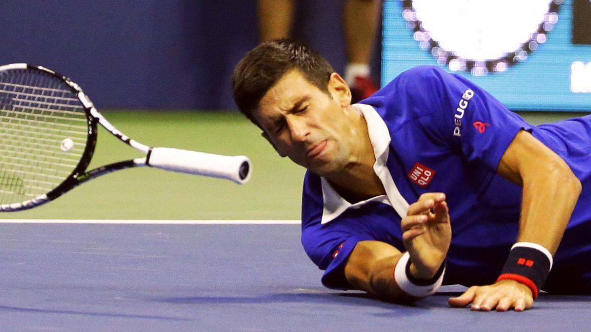 La peligrosa caída que pudo costar el retiro de Novak Djokovic en la final