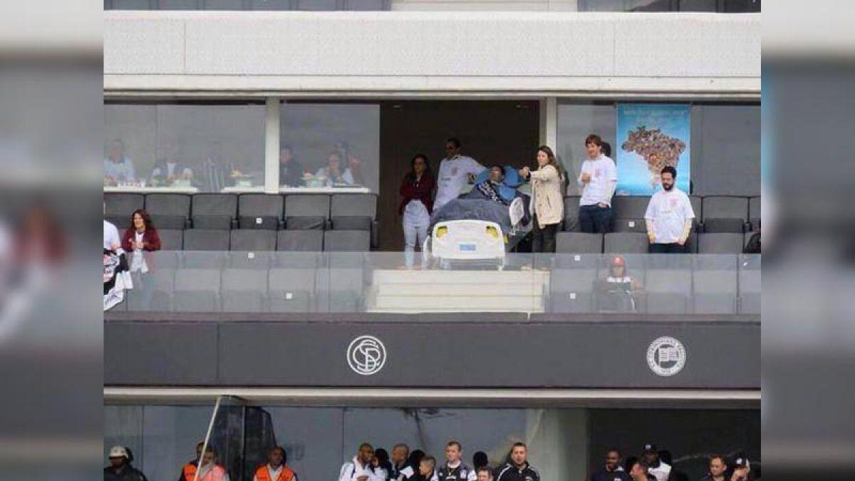 La historia del hincha que fue a ver al Corinthians en una cama UCI