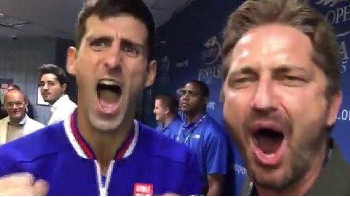 """Djokovic y su divertido encuentro con actor de """"300"""": ¡Esto es Esparta!"""
