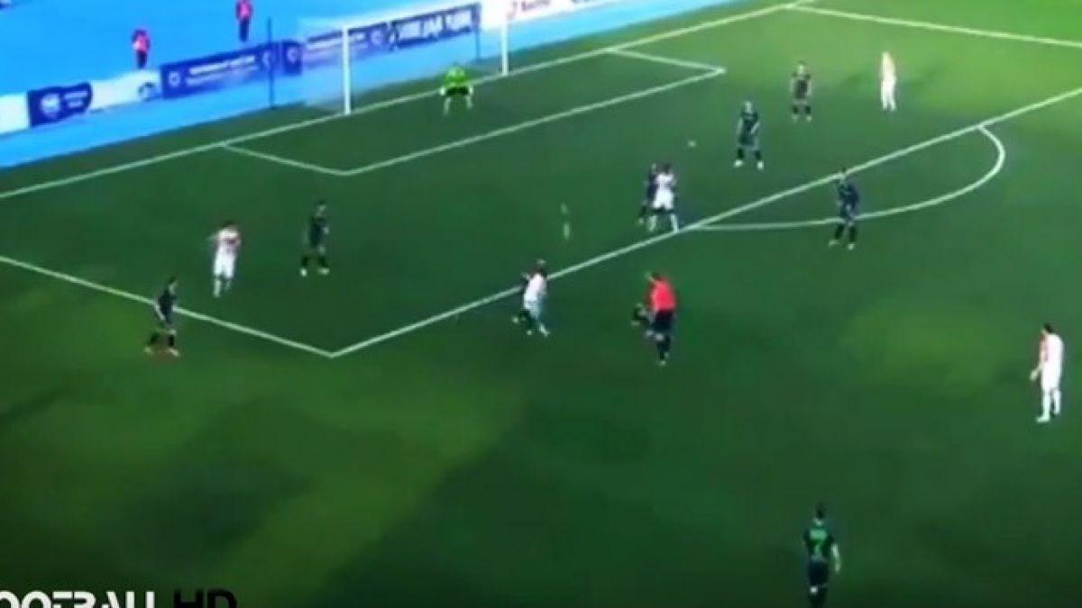 El tremendo golazo de Gerson Acevedo en la liga de Rusia