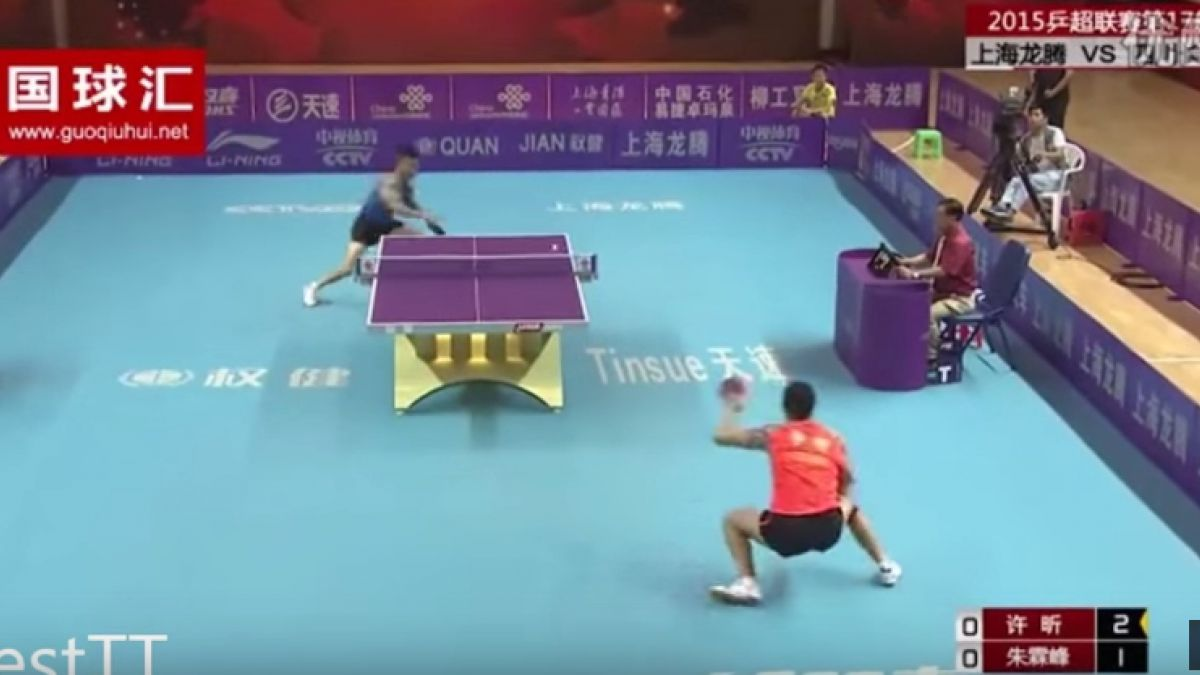 El punto del tenis de mesa más impactante de la Super League de China
