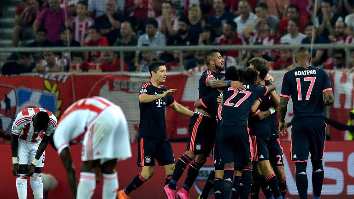 Arturo Vidal con Bayern Munich arranca goleando en la Champions