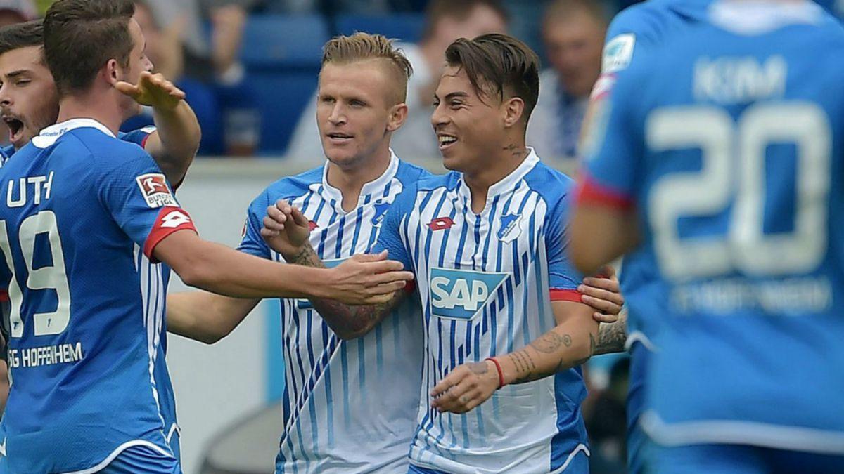 Eduardo Vargas fue titular en empate de Hoffenheim ante Stuttgart