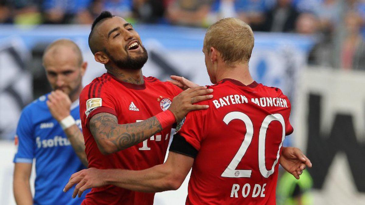 Arturo Vidal se matricula con golazo en macizo triunfo del Bayern en Alemania