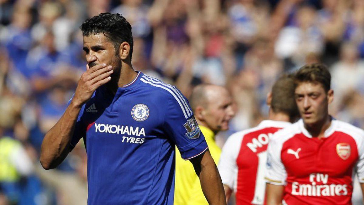 El show de Diego Costa que provocó la expulsión de Gabriel en el Chelsea-Arsenal