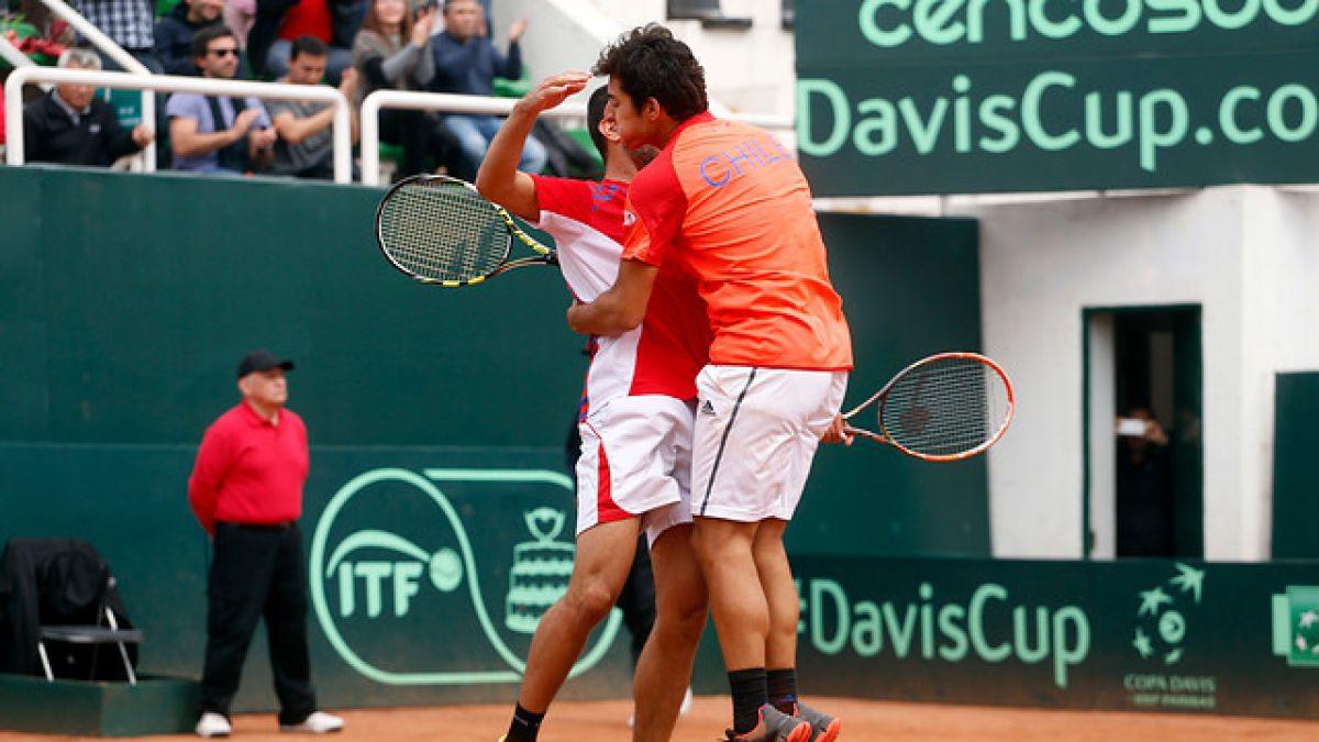 Dupla Garín-Podlipnik triunfa en dobles y Chile gana serie en Copa Davis