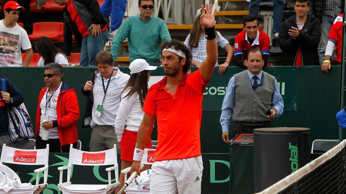 Gonzalo Lama gana y sella rotundo triunfo por 5-0 de Chile en Copa Davis