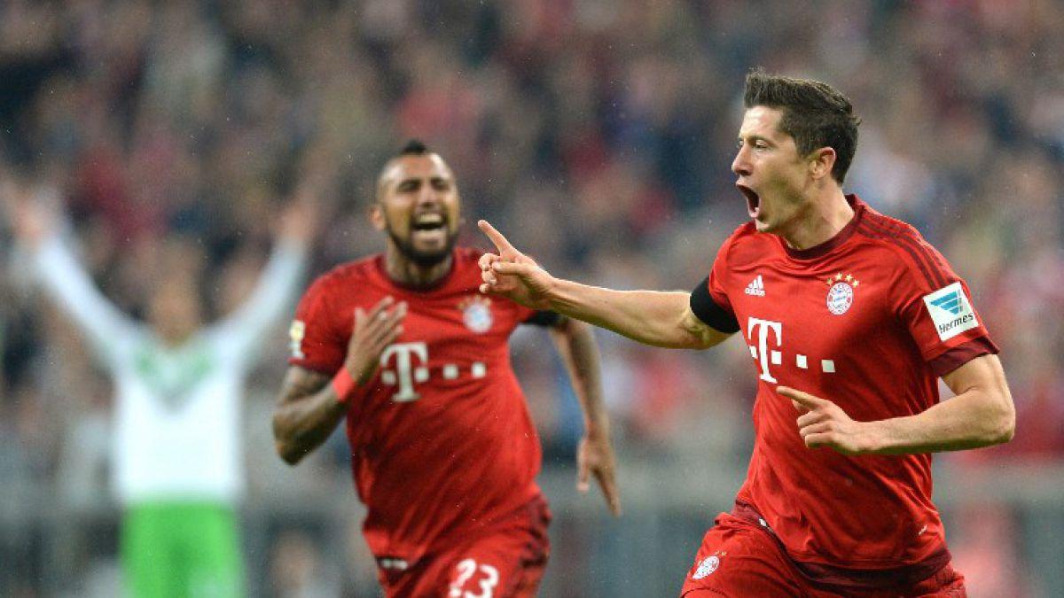 Bayern de Vidal celebra con cinco goles de Lewandowski en nueve minutos