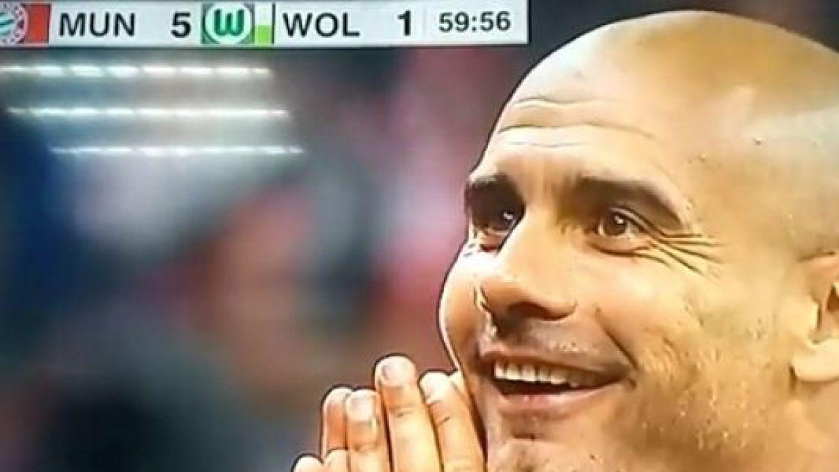[VIDEO] ¡No lo podía creer! La reacción de Guardiola tras los 5 goles de Lewandowski