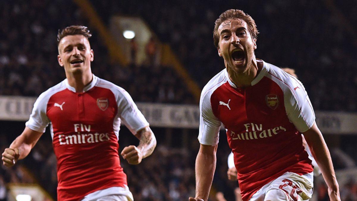 Avanza a octavos: Alexis estuvo en el triunfo del Arsenal sobre el Tottenham
