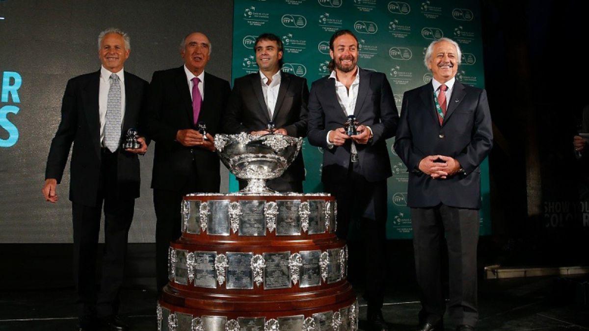 Cuatro leyendas del tenis nacional fueron homenajeadas