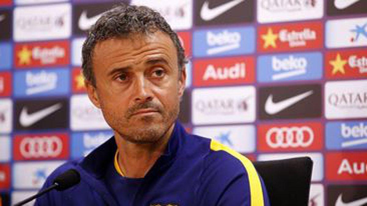 Luis Enrique: Los goles no los encajan Claudio, Marc o Jordi, sino el FC Barcelona