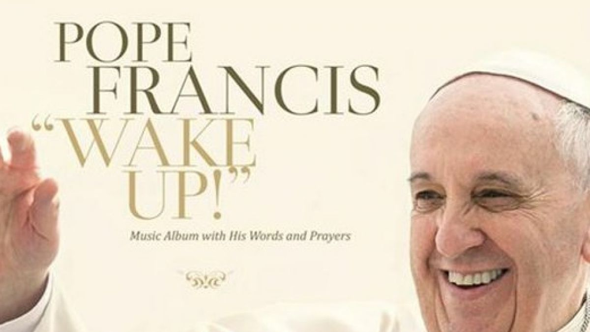 "Esta imagen es difundida por el sello Believe Digital, la portada del álbum del papa Francisco ""Wake Up!"""