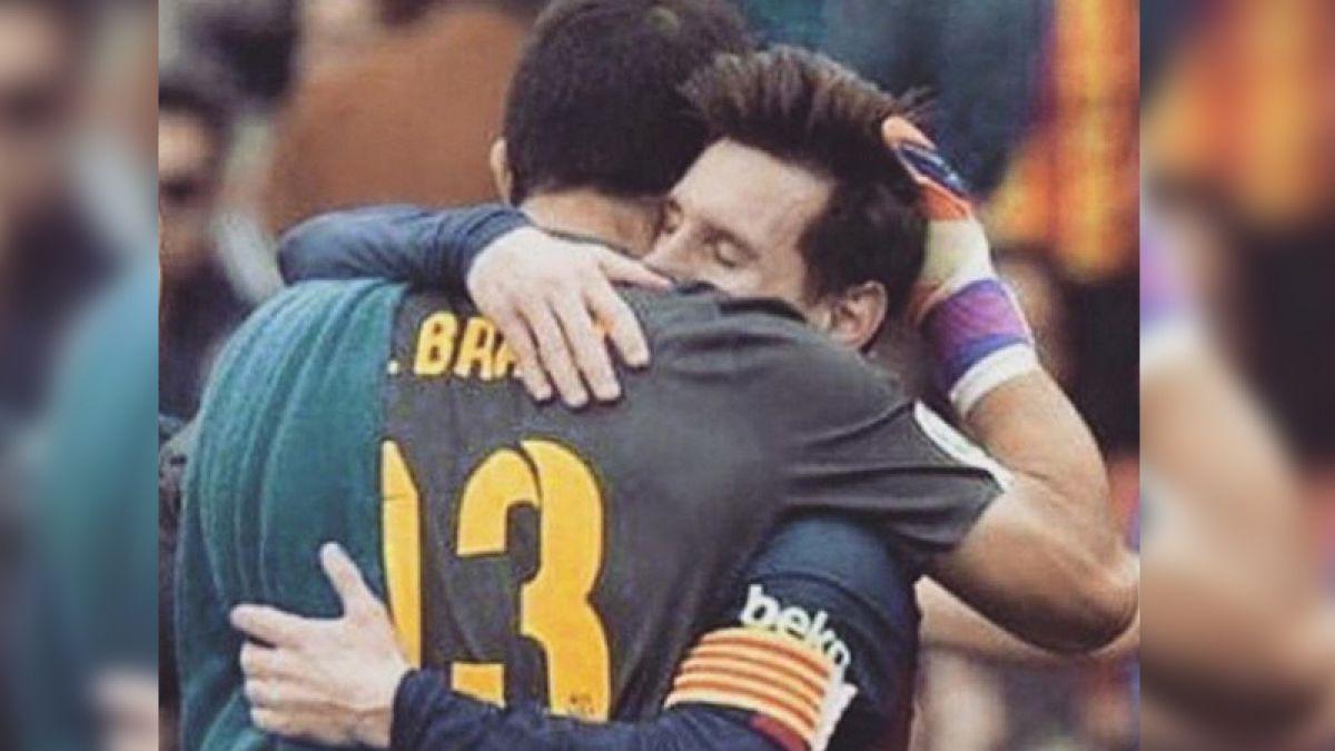 Claudio Bravo envía cariñoso saludo a Lionel Messi tras su lesión