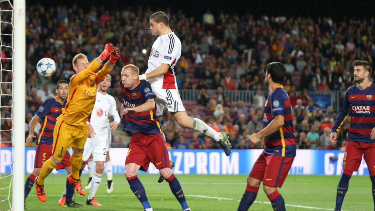 Cabezazo en el área chica: así fue el nuevo gol que recibió Ter Stegen
