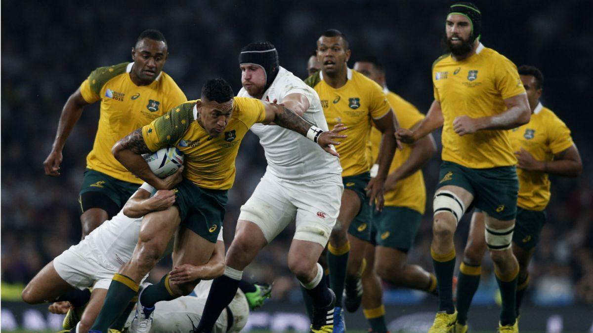 Rugby: Australia vence a Inglaterra y lo elimina de su propio mundial