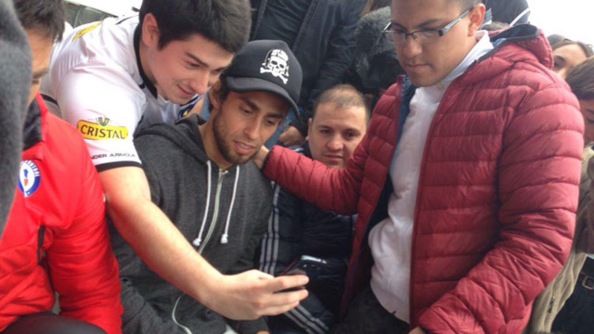 [FOTOS] Sampaoli y Valdivia presentes en San Carlos en el duelo entre la UC y Colo Colo