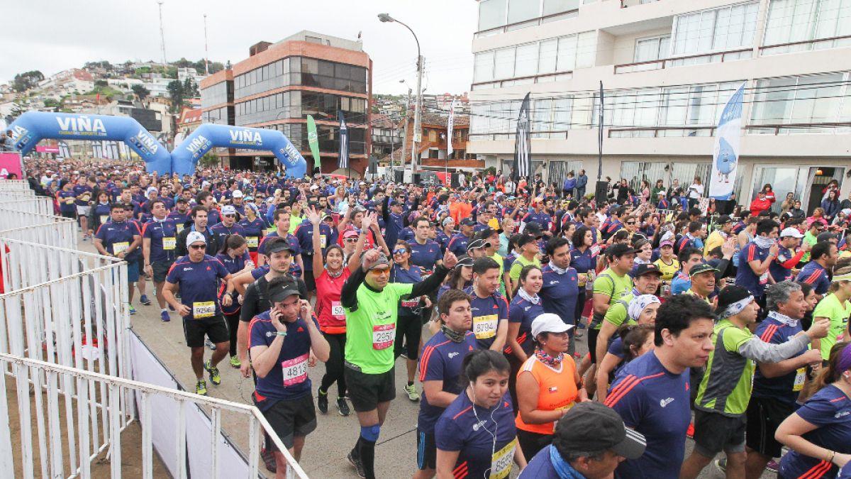 Masiva participación en el Maratón Internacional de Viña del Mar