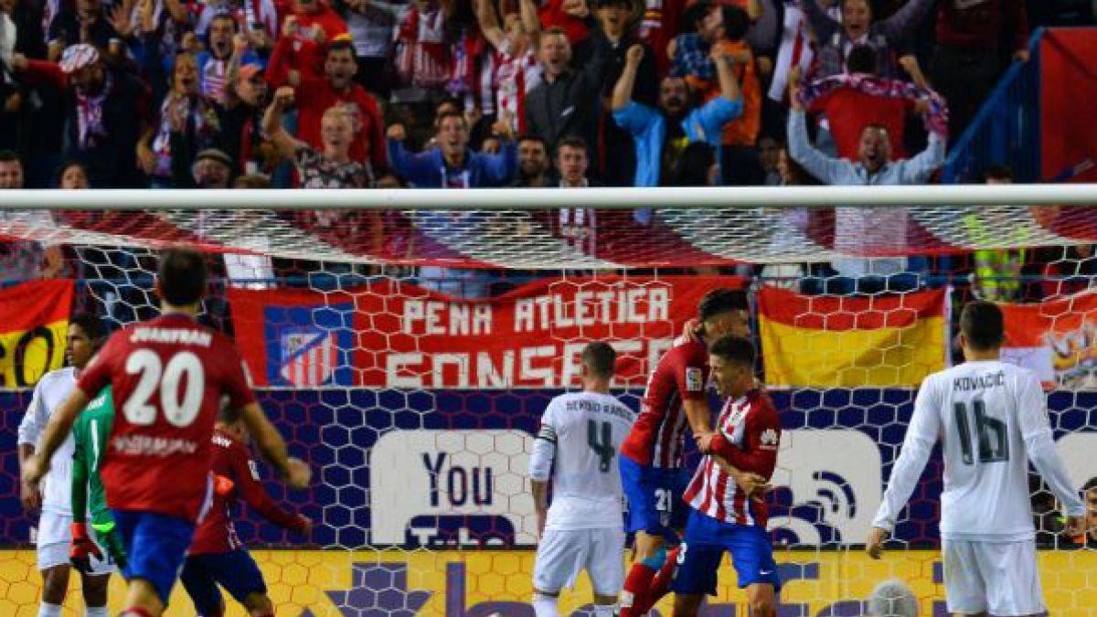 Atlético empata 1-1 con el Real Madrid e impide su liderato
