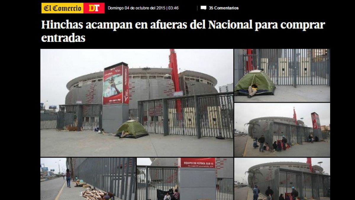 Peruanos desesperados por conseguir una entrada para el partido contra Chile