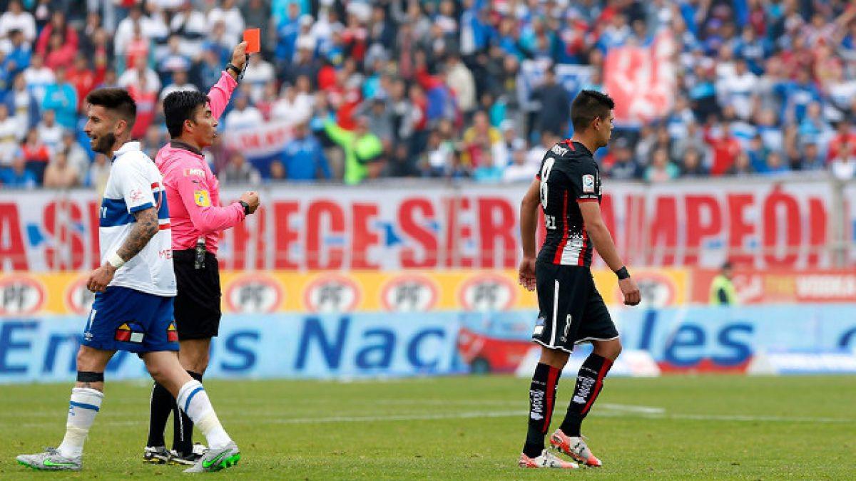 Esteban Pavez fue sancionado con seis fechas tras expulsión ante Católica