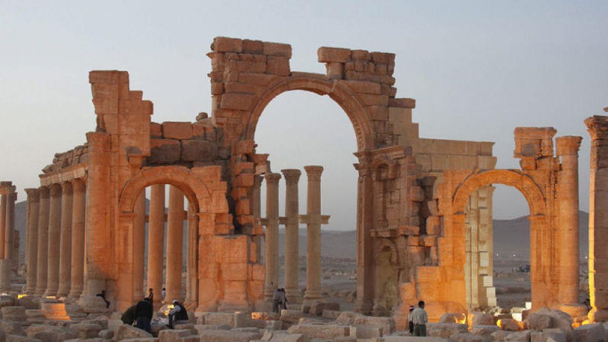 Estado Islámico destruye el teatro romano y el Tetrápilo de Palmira