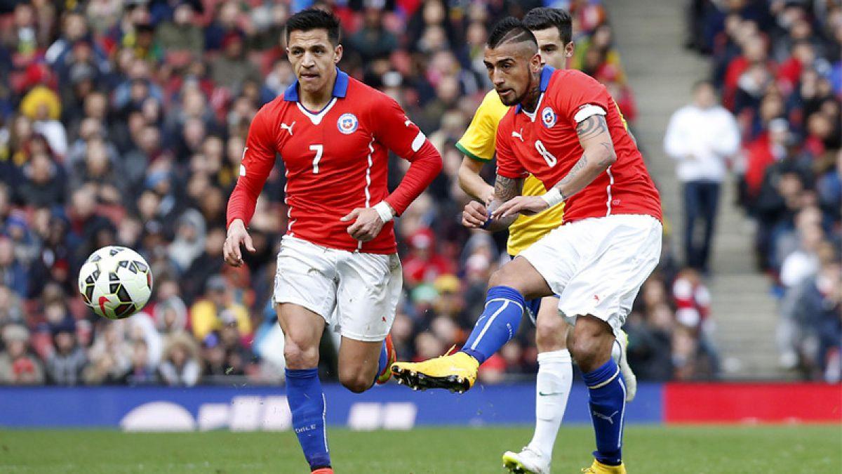 Estas serían las formaciones de Chile y Brasil para el debut en las Clasificatorias
