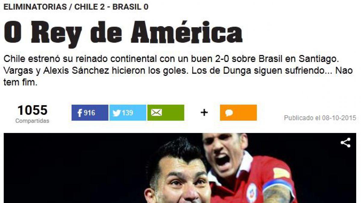 Medios internacionales destacan que Chile hizo historia ante Brasil