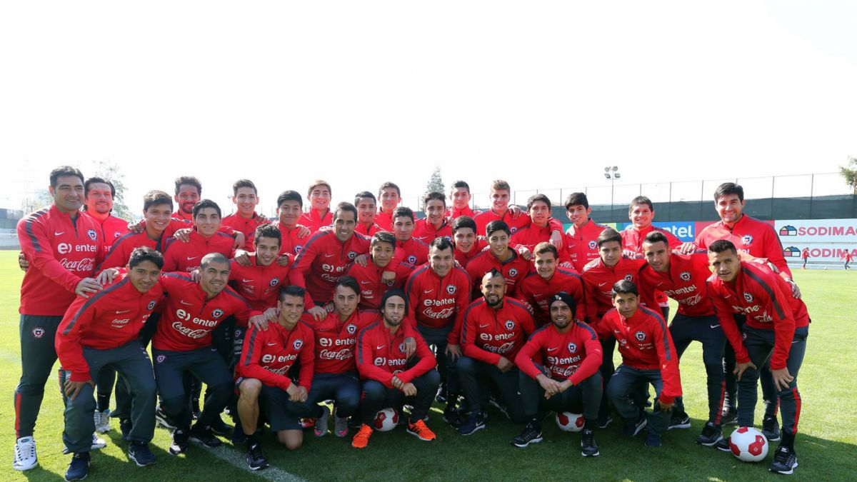 La Roja Sub 17 recibió a los Campeones de América: Den lo máximo por la camiseta