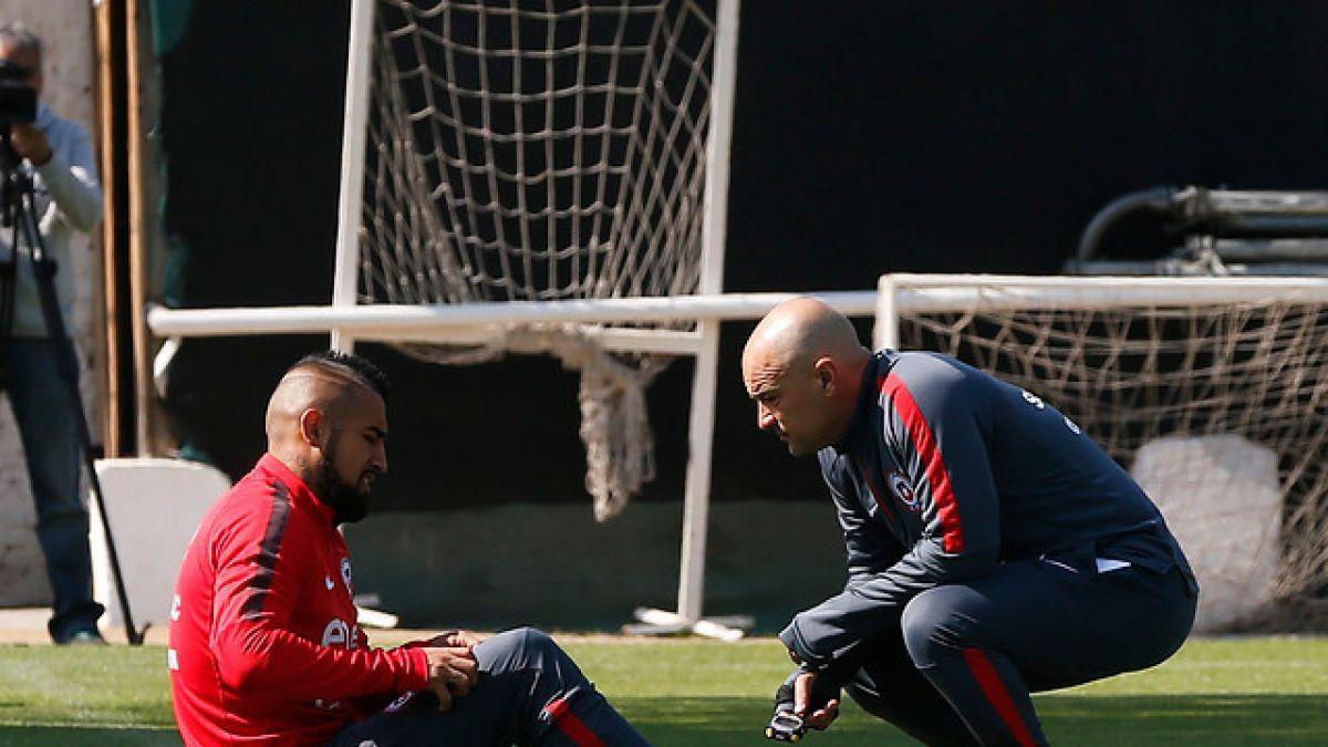 """Arturo Vidal es cuidado en la """"Roja"""" y Sampaoli brinda tarde libre"""