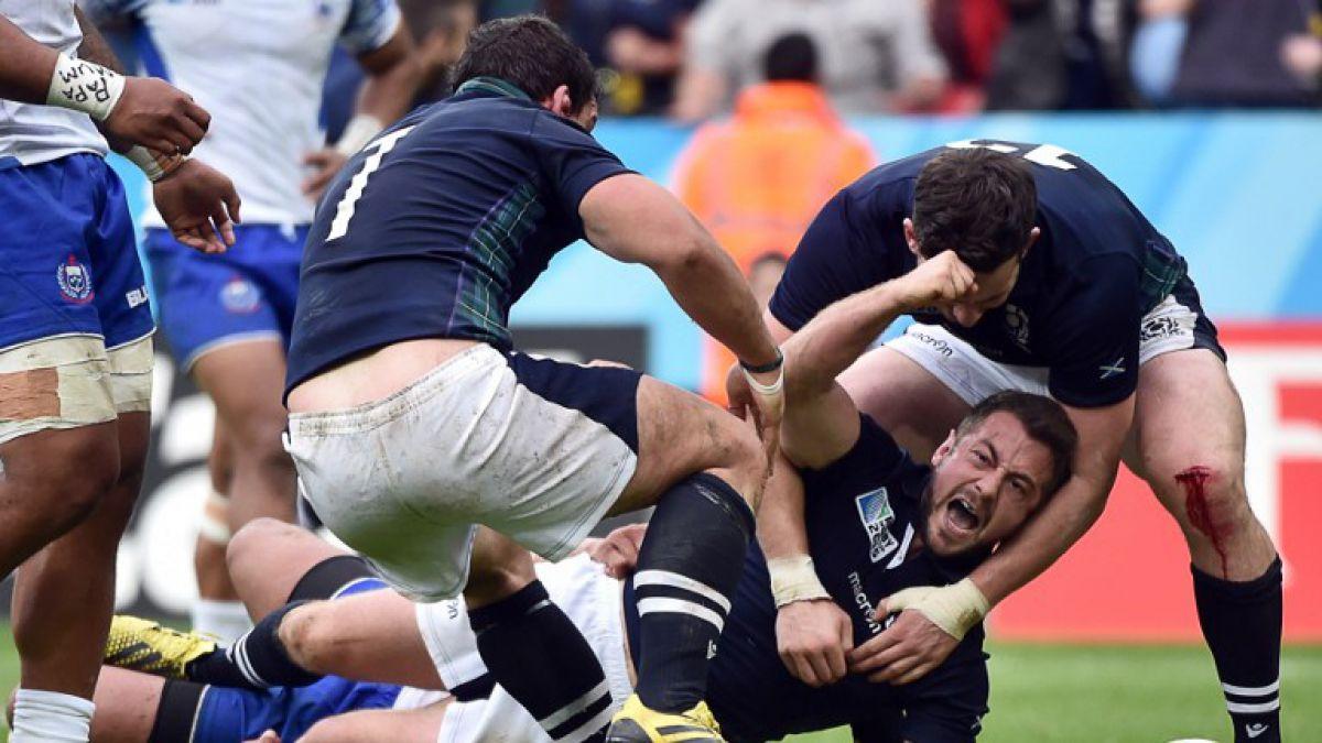 Escocia sufre para vencer a Samoa y clasifica a cuartos del Mundial de Rugby
