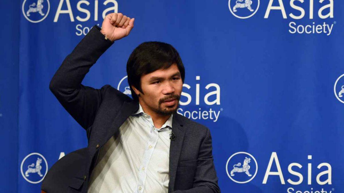 Manny Pacquiao postula para ser senador de Filipinas